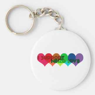 I support Nerd Love Basic Round Button Keychain
