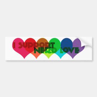 I support Nerd Love Car Bumper Sticker