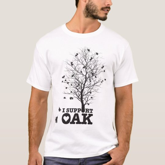 I Support Oak Ringer T-Shirt
