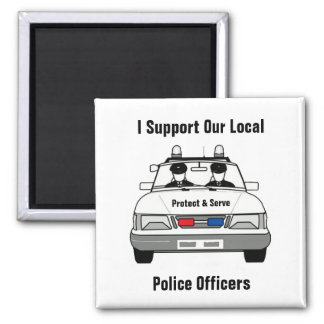 I Support Our Local Police Officers Magnet