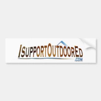 I Support Outdoor Ed T-Shirt Bumper Sticker