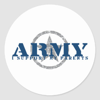 I Support Parents - ARMY Classic Round Sticker