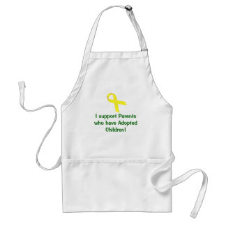 I support Parents who have Adopted Children! Adult Apron