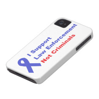 I Support Police Officers not Criminals Pro police Case-Mate iPhone 4 Cases
