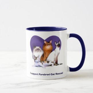I support Purebred Cat Rescue! Mug