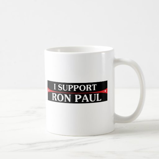 I Support Ron Paul! Classic White Coffee Mug