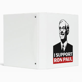 I Support Ron Paul for President 2012 Binder