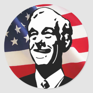 I Support Ron Paul for President in 2012 Classic Round Sticker