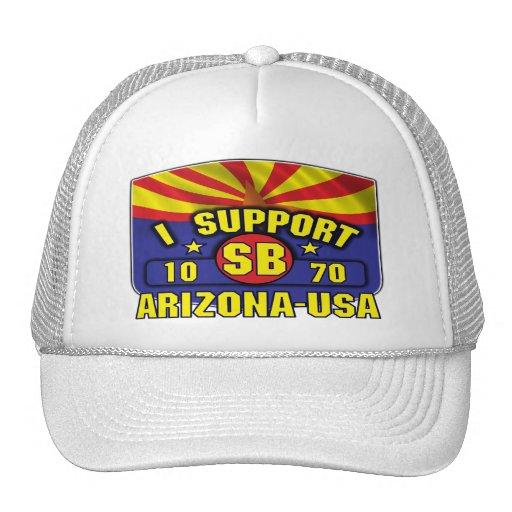 I Support SB1070 - Arizona USA Mesh Hats