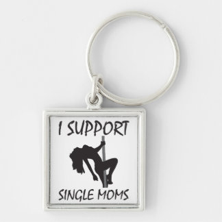 I Support Single Moms Keychain