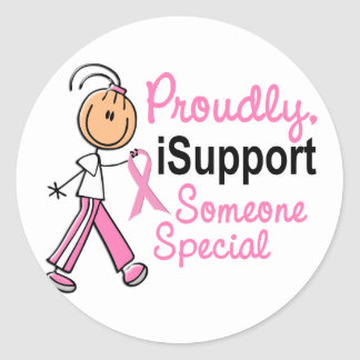 I Support Someone Special SFT Breast Cancer Gifts Stickers