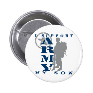 I Support Son 2 - ARMY 2 Inch Round Button