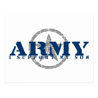 I Support Son - ARMY Postcard