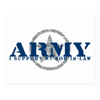 I Support Son-in-law - ARMY Postcard
