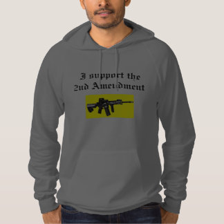 I support the 2nd amendment hooded pullover