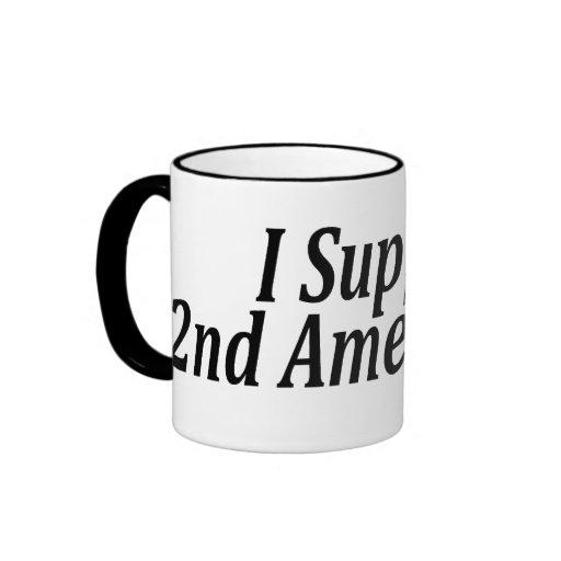 I Support the 2nd Amendment Ringer Coffee Mug