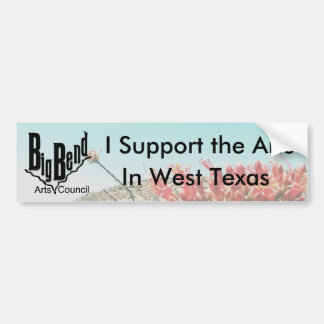 I Support the Arts Bumper Sticker Car Bumper Sticker