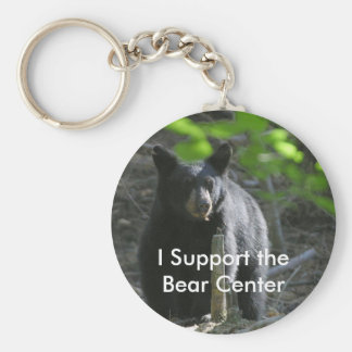 I Support the Bear Center Basic Round Button Keychain