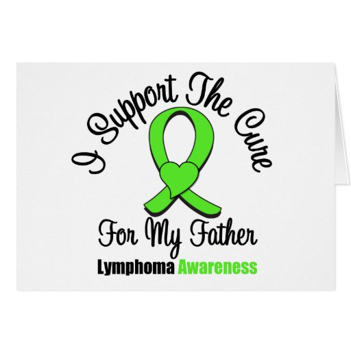 I Support The Cure For Father Card