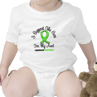 I Support The Cure For My Aunt Baby Bodysuits