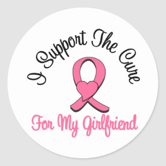 I Support The Cure For My Girlfriend Stickers
