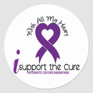 I Support The Cure Pancreatic Cancer Round Sticker