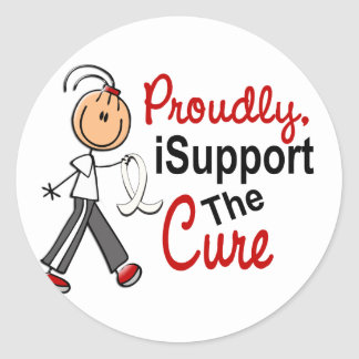 I Support The Cure SFT (Bone / Lung Cancer) Round Sticker