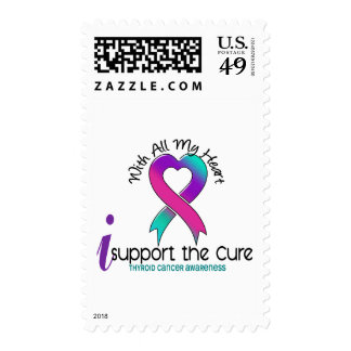 I Support The Cure Thyroid Cancer Postage Stamps