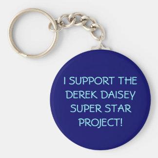 I SUPPORT THE DEREK DAISEY SUPER STAR PROJECT! BASIC ROUND BUTTON KEYCHAIN