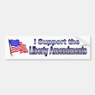 I support the Liberty Amendments Bumper Sticker