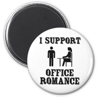 I Support The Office Romance 2 Inch Round Magnet