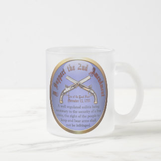 I Support the Second Amendment 10 Oz Frosted Glass Coffee Mug