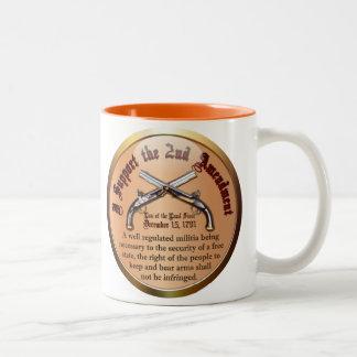 I Support the Second Amendment Two-Tone Coffee Mug
