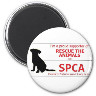 """""""I Support the SPCA..."""" 2 Inch Round Magnet"""