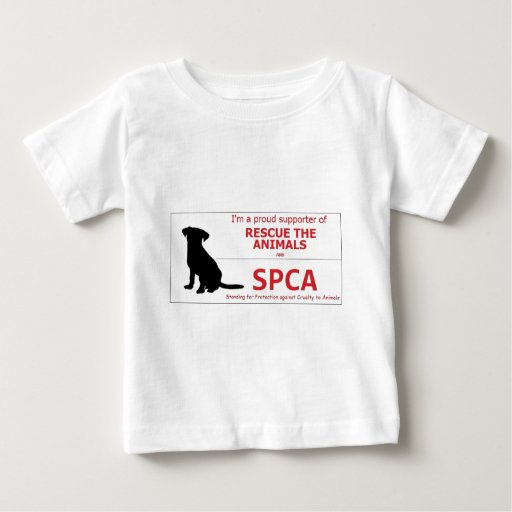 """""""I Support the SPCA..."""" Baby T-Shirt"""