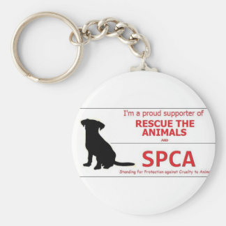 """""""I Support the SPCA..."""" Keychain"""