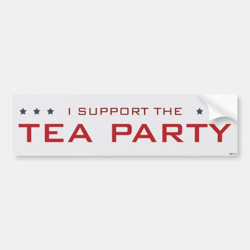 I Support The Tea Party Bumper Stickers
