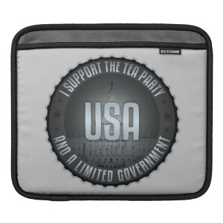 I Support The Tea Party iPad Sleeves