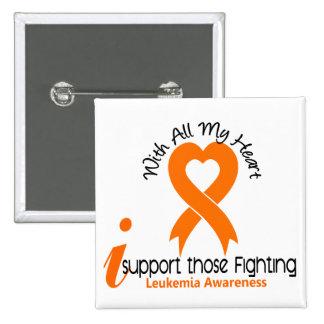 I Support Those Fighting Leukemia Pinback Button
