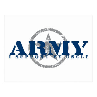 I Support Uncle - ARMY Postcard