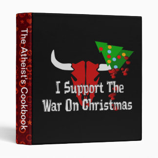 I Support War On Christmas 3 Ring Binder