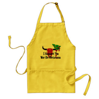 I Support War On Christmas Adult Apron
