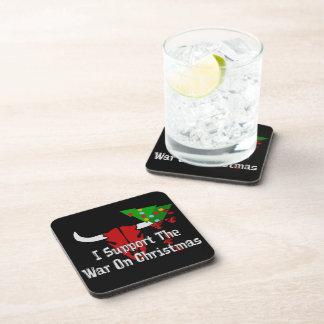 I Support War On Christmas Beverage Coaster