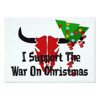 I Support War On Christmas Card