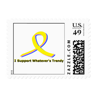 I support whatever's trendy. postage