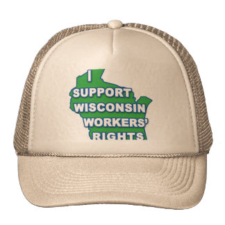 I SUPPORT WISCONSIN Workers Rights Hats