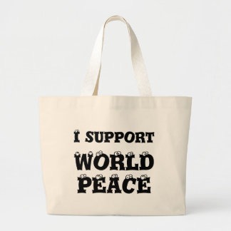 I SUPPORT WORLD PEACE Tote Bag