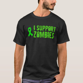 I support Zombies Green Ribbon Shirt