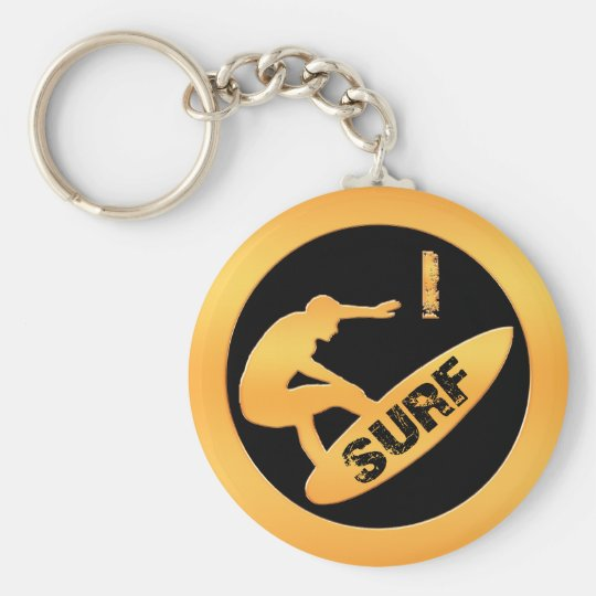 I Surf Keychain