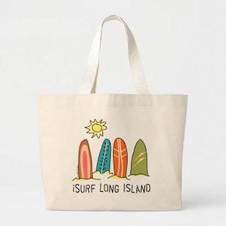 I Surf Long Island Large Tote Bag